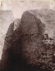 The vent in the Indpai or Indappe Tope, Jamui, Monghyr (Munger) District.